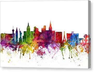 Las Vegas Cityscape 06 Canvas Print by Aged Pixel