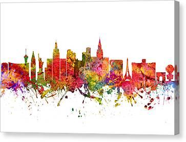 Las Vegas Cityscape 08 Canvas Print by Aged Pixel