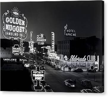Las Vegas Fremont Street C. 1947 Canvas Print