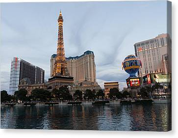 Las Vegas - All Lit And Glamorous On A Cloudy Day Canvas Print by Georgia Mizuleva