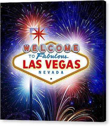 Las Vegas In Optima Forma Canvas Print