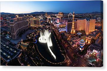 Las Vegas Lights Canvas Print by Steve Gadomski