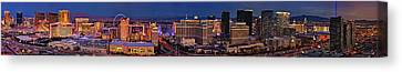 Las Vegas Panoramic Aerial View Canvas Print by Susan Candelario