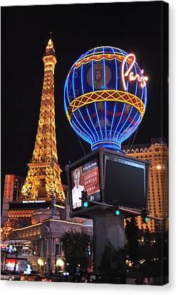 Canvas Print featuring the photograph Las Vegas Paris Eiffel Tower by Matt Harang