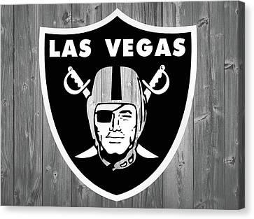 Las Vegas Raiders Barn Door Canvas Print