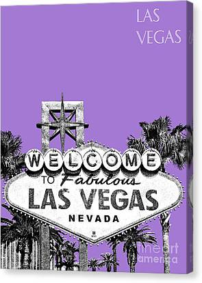 Las Vegas Sign - Purple Canvas Print