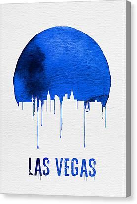 Las Vegas Skyline Blue Canvas Print