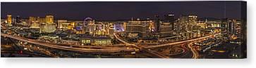 Canvas Print featuring the photograph Las Vegas Strip by Roman Kurywczak