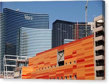 Las Vegas Under Construction Canvas Print by Susanne Van Hulst