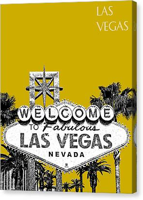 Las Vegas Welcome To Las Vegas - Gold Canvas Print