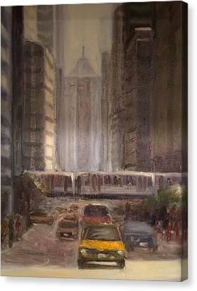 Lasalle Street Canvas Print