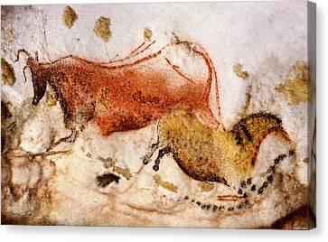 Lascaux Cow And Horse Canvas Print