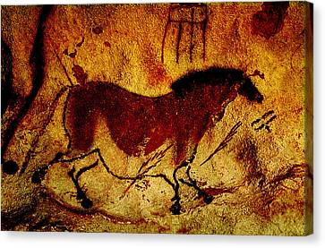Lascaux Horse Canvas Print by Asok Mukhopadhyay