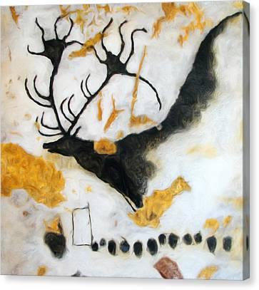 Lascaux Megaceros Deer Canvas Print