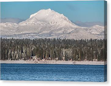 Lassen On Christmas Morning Canvas Print