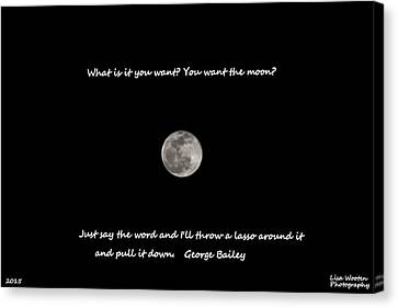Lasso The Moon Canvas Print