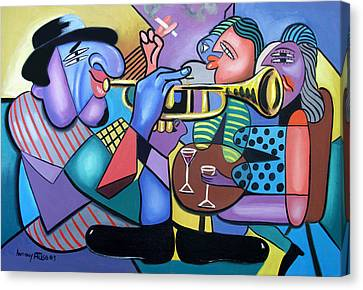 Woman Drinking Canvas Print - Last Call by Anthony Falbo