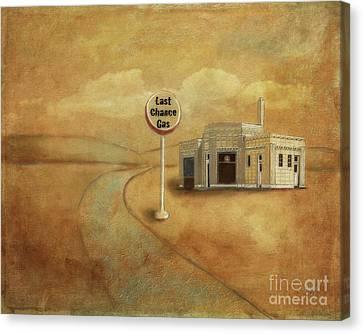 Canvas Print - Last Chance Gas by Lois Bryan