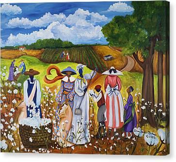 Last Cotton Field Canvas Print by Diane Britton Dunham
