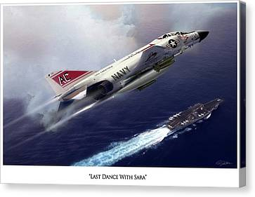 Aircraft Carrier Canvas Print - Last Dance With Sara V2 by Peter Chilelli
