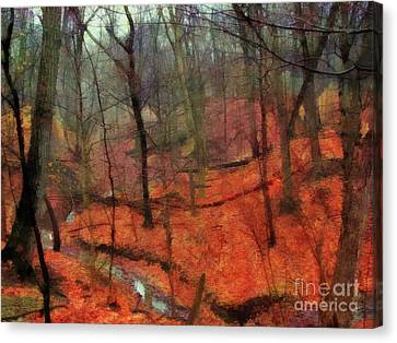 Last Days Of Autumn Canvas Print by Cedric Hampton