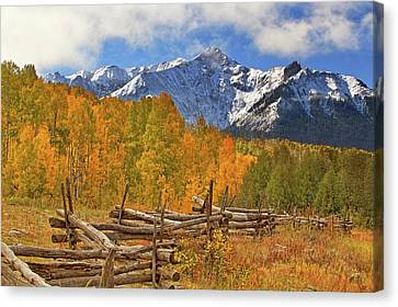 Canvas Print featuring the photograph Last Dollar Road - Telluride - Colorado by Jason Politte