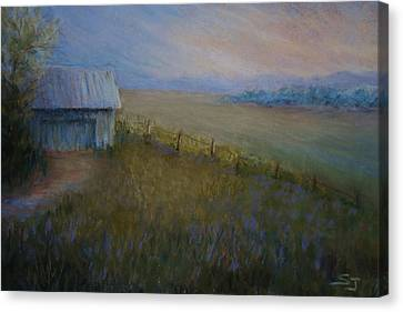 Last Farm Light Canvas Print by Susan Jenkins