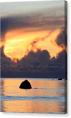 Last Flame Marking The Passing Of A Loved One Canvas Print by Pierre Leclerc Photography