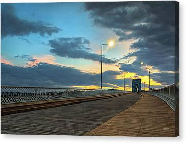 Last Light And Color Over Walnut Canvas Print by Steven Llorca