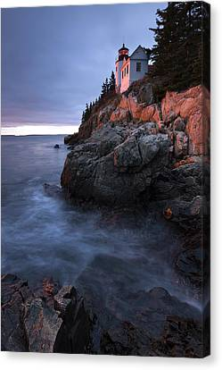 Last Light At Bass Harbor Canvas Print