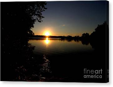 Last Light At West Thompson Lake Canvas Print by Neal Eslinger