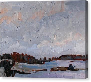 Last Light Gray Canvas Print