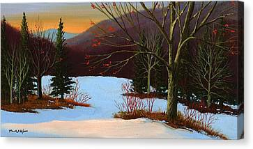 Last Light Of Day Canvas Print by Frank Wilson