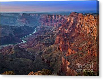 Last Light On The Canyon Canvas Print by Jamie Pham