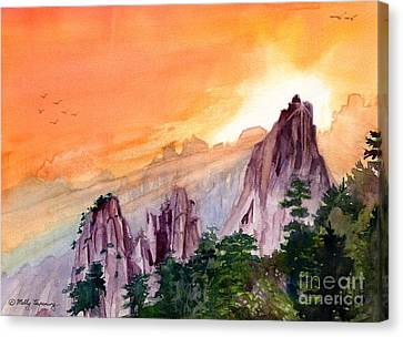 Morning Light On The Mountain Canvas Print by Melly Terpening
