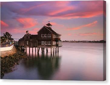 Last Light Pier Cafe Canvas Print