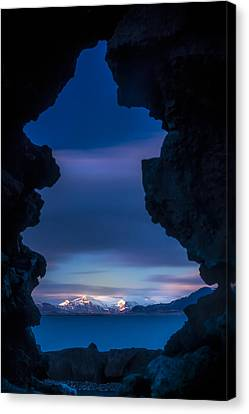 Last Light Through Lava Canvas Print