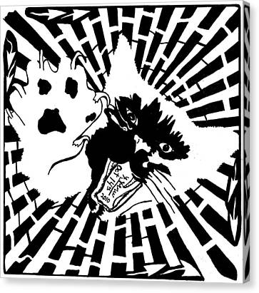 Last Maze The Mouse Sees Canvas Print by Yonatan Frimer Maze Artist