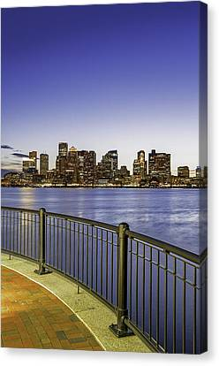 Last Night Sunset In Boston Canvas Print by Juergen Roth