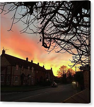 Landscapes Canvas Print - Last Night's Sunset From Our Cottage by John Edwards