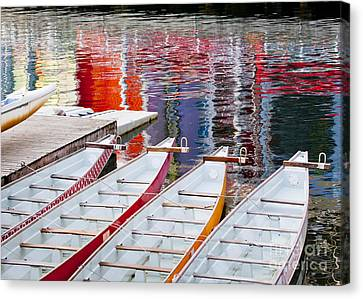 Last Of The Dragon Boats Canvas Print by Chris Dutton