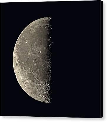 Waning Moon Canvas Print - Last Quarter Moon by Eckhard Slawik