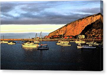 Canvas Print featuring the photograph Last Rays At The Bay by Nareeta Martin