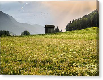 Canvas Print featuring the photograph Last Rays On The Valley by Yuri Santin