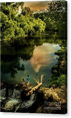 Canvas Print featuring the photograph Last Seconds Of Summer by Robert Frederick
