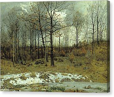 Last Snow At Weimar Canvas Print