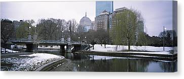Last Snow Of The Season, Boston Public Canvas Print by Panoramic Images