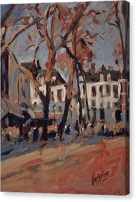 Last Sunbeams Our Lady Square Maastricht Canvas Print by Nop Briex