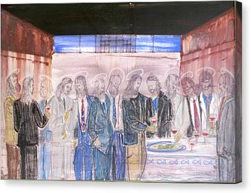 Last Supper 20th Century Canvas Print by Marwan George Khoury