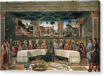 Last Supper Canvas Print by Cosimo Rosselli
